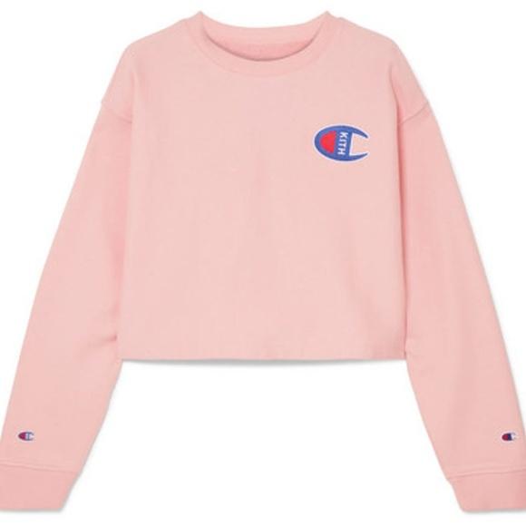 Authentic Top Champion Women Kith Sweater Sweaters Crop Poshmark EwXwqH